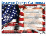 Siskiyou County California final budget