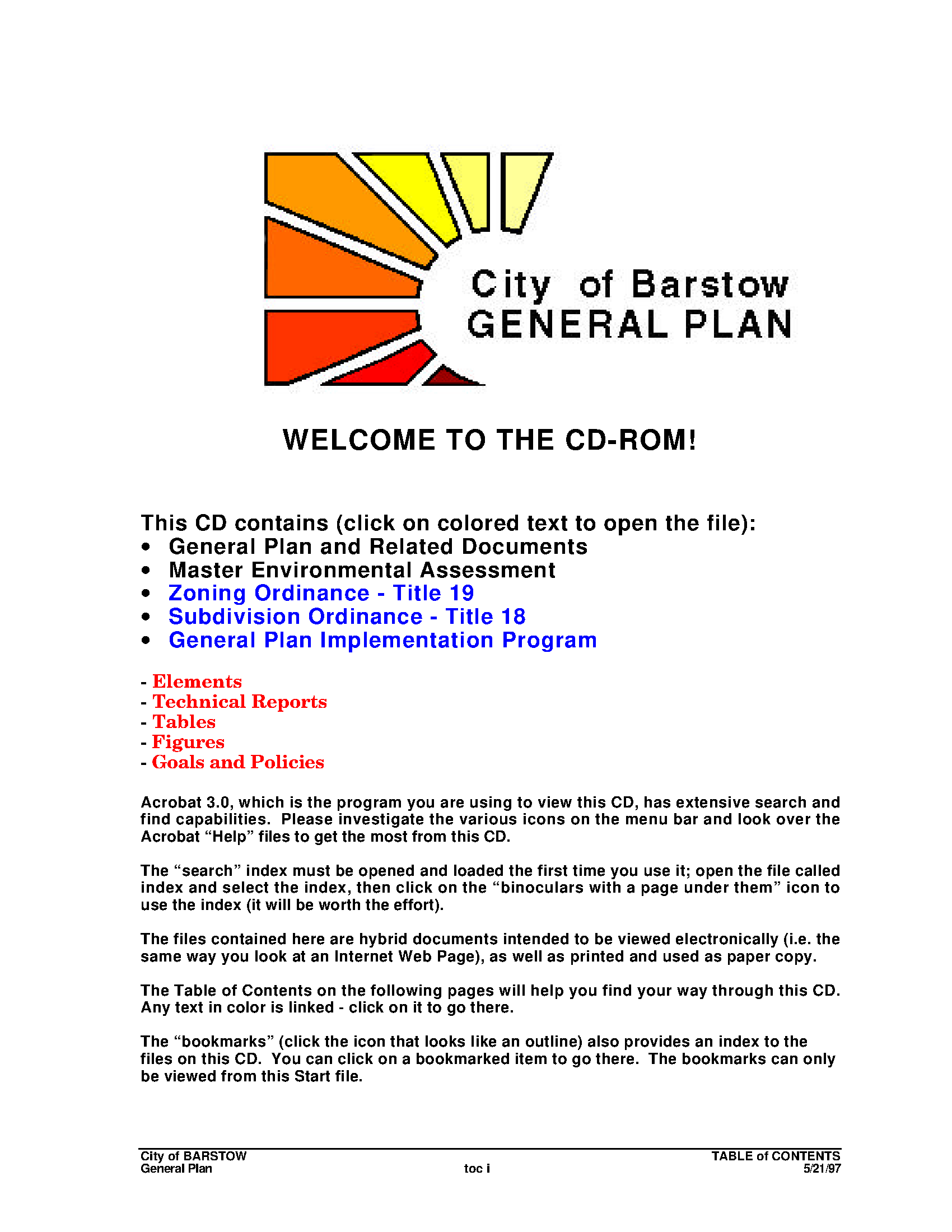 City of Barstow general plan - California Local Planning